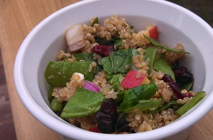WEight loss spinach and quinoa