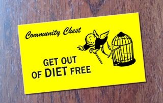 'Get out of diet free' card