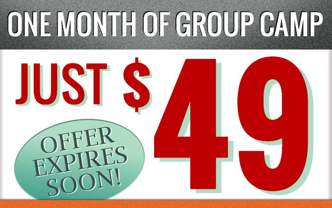 Group Camp Special: Just $49!