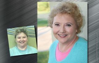 woman's weight loss before and after