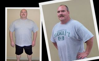 man who lost 45 lbs.