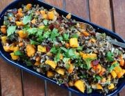 healthy Thanksgiving recipe: butternut squash + wild rice